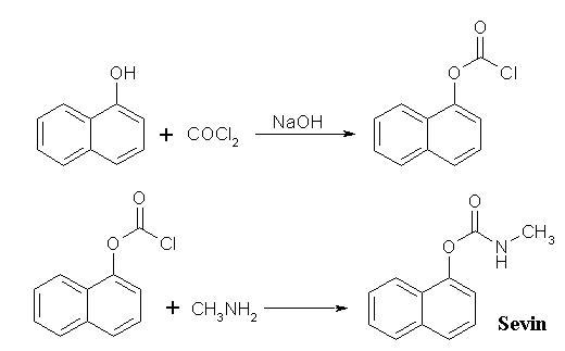 naphtol-1 and phosgene